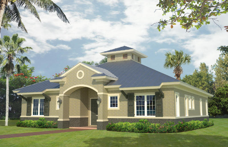 Belize Real Estate At Waterside 1860 Square Foot Model